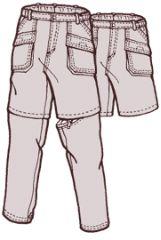 Sunset Bay Cargo zip off pants pattern