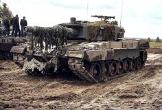 Polish Leopard 2A4 during excercises in Germany