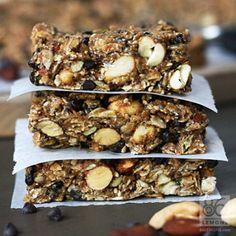 Chocolate Peanut Butter Breakfast Bars (vegan, gf) Going to sub tahini instead of peanut butter!