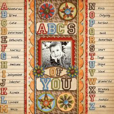 The ABCs of You...journal about what makes your child special in a clever ABC format ~ Make a single page or an entire ABC album!