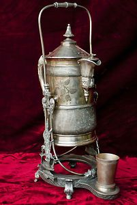Victorian Quadruple Silver Plate Samovar Tea/Water Server from James Tufts, Boston
