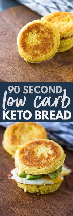 90 Second Microwavable Low Carb Keto Bread