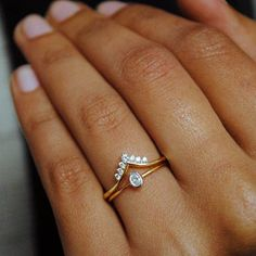 Oval Engagement Ring Set. Wedding Ring Set. 14K Yellow Gold