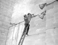 St. Paul Winter Carnival Ice Palace construction, 1937