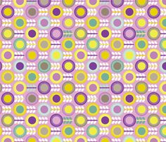 Flower Scales aubergine - multi orchid fabric by kayajoy on Spoonflower - custom fabric