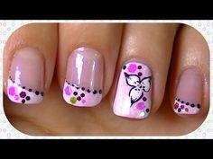 candy flower nail art design #nailart