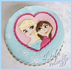 torta Frozen - Elsa e Anna