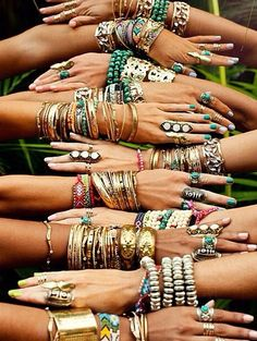 Bracelets & rings bring a bangle