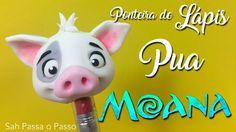 DIY- Ponteira de LÁPIS/CANETA Puá (Moana) em Biscuit - Back to school - SPP - YouTube
