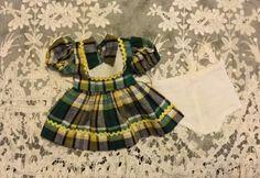 Cute Plaid Factory Dress for Hard Plastics such as Toni 1950s