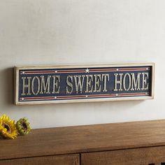 Home Sweet Home Wall Decor Blue