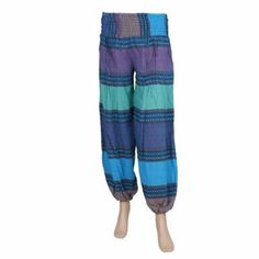 Shop for Indian women - Trousers Indian Cotton woven colored patterns - Christmas Gift Idea - Purple, green, dark blue, light blue: Amazon.fr: Clothing and Accessories