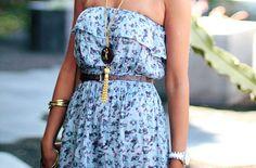 #dress #blue #cute #fashion