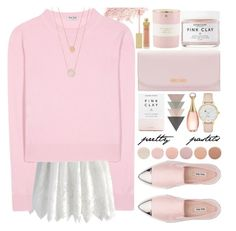 """pretty pastels"" by jan31 ❤ liked on Polyvore featuring Chicwish, Bare Escentuals, Miu Miu, Herbivore, Christian Dior, Deborah Lippmann, Kate Spade, AERIN and Michael Kors"