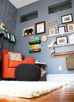 Eclectic Gallery Wall in a Modern Gray Nursery