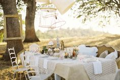 impeccably styled outdoor dinner parties