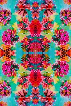 Tropical Floral Art Print by Amy Sia #summer #color