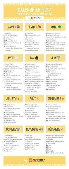 calendrier 2017 pour votre plan de marketing