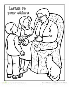 coloring pages showing respect | Manners Coloring Page | Social Skills Activities for Kids ...