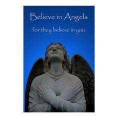 Believe in Angels 36 x 24 Poster