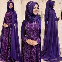 2018 Hijab Velvet Evening Dress Models, www. Muslim Wedding Dresses, Muslim Brides, Indian Wedding Outfits, Bridal Dresses, Wedding Hijab, Muslim Women, Abaya Fashion, Muslim Fashion, Denim Fashion