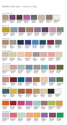 Pantone released their home color trend palettes for 2015 consisting of nine key palettes under the umbrella of New Harmonies: Changing Themes in Color/ Design Trends.
