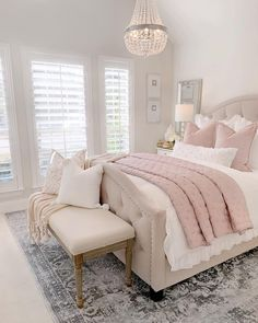 Most Popular and Amazing Bedroom Design Ideas for This Year Part 24 - Home decor - Bedroom Decor Dream Rooms, Dream Bedroom, Home Decor Bedroom, Modern Bedroom, Contemporary Bedroom, Bedroom Inspo, Blush Bedroom Decor, French Bedroom Decor, French Bedrooms
