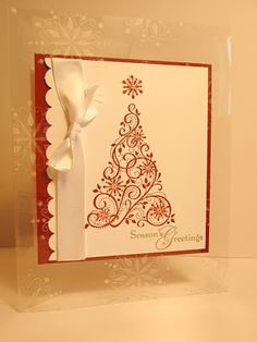 Clear Snow Swirled by heatherla - Cards and Paper Crafts at Splitcoaststampers