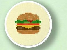 Chomp away! Food Inspired Cross Stitch Patterns: Cheese Burger, Cheese Burger, Cheese Burger...