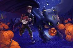 A Very HTTYD Halloween by TsaoShin.deviantart.com on @deviantART