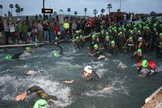 swim start @ IronMan 70.3 Oceanside