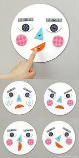 This is a good activity to help toddlers understand and act accordingly to facial expressions.  Talk about happy, sad, angry, confused etc.