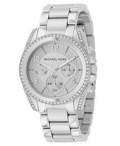 Michael Kors Watch, Women's Blair Stainless Steel Bracelet 39mm MK5165