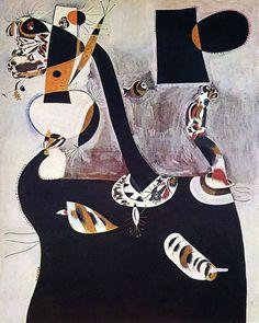 Joan Miró    Oturan Kadın II / Seated Woman II    1938. Tuval üzerine yağlıboya. 162 x 130 cm. Peggy Guggenheim Foundation, Venice.