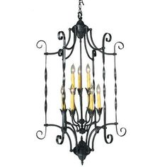 Pin It! :) Click Image Twice For More Info and Pricing :)  #home #ceiling #homeimprovement #homedecor #lighting  #lights #lightandfixture #chandeliers see more chandeliers at http://www.zbrands.com/Chandeliers-C35.aspx - Framburg Chandeliers - Galicia 9 Light Foyer Chandelier