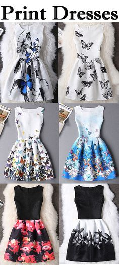 Graceful Butterfly Pattern High-Waist Dress For Women Trendy Dresses, Cute Dresses, Vintage Dresses, Beautiful Dresses, Casual Dresses, Short Dresses, Fashion Dresses, Summer Dresses, Women's Dresses