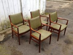 set of four vintage teak chairs for sale