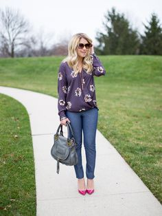 What I Wore to Work Weekly Linkup #94: Banana Republic Sloan Pants - Mix & Match Fashion