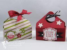 Petits paniers de Noël - Stampin'UP! - Jardin de papier Si faciles à faire avec la planche de marquage Insta Enveloppe