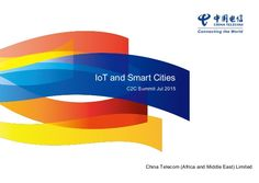 IoT and Smart Cities - China Telecom