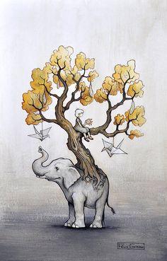 L'arbre de Julie - Tattoo - Félix Girard - Artiste peintre et illustrateur