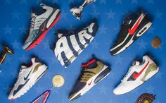 Nike celebrates the 2017 Olympics with a special USA themed sneaker pack that consists of the Presto GPX an Air More Uptempo a Presto Flyknit Ultra a Pegasus 92 Premium an Air Max BW Premium and a Zoom Pegasus 92.  The 90s gave us some of the best Olympic themed sneakers that would eventually remain some of todays sought after classics. This year Nike is bringing back a total of 5 USA colored kicks including the Nike Air Presto Ultra Flyknit that will also feature a USA theme. All six will…