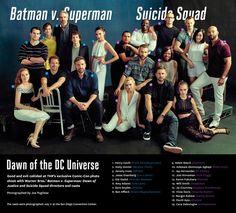 Los repartos de 'Batman v Superman' y 'Escuadrón Suicida' posan en una misma foto - Noticias de cine - SensaCine.com