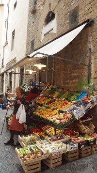 food insecurity seems far away when there is fresh produce | Italian village store