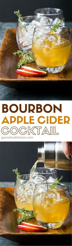 Fall cocktails dont get much tastier than these quick and easy Bourbon Apple Cider Cocktails - perfect for everything from tailgating to Thanksgiving! Bourbon Apple Cider, Apple Cider Cocktail, Cider Cocktails, Holiday Drinks, Holiday Cocktails, Fun Drinks, Yummy Drinks, Spiked Cider, Beverages