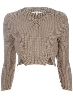 Carven cropped jumper -- not quite my colours, but adoring the shape of this jumper!