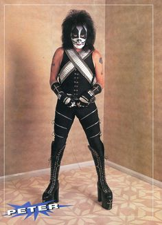 Peter Criss Pinup clipping 90's Full Body Kiss | eBay