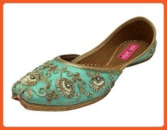 Step n Style Women Flat Shoes Flat Ballet Jutti Ethnic Mojari Flat Kolhapuri Khussa - Flats for women (*Amazon Partner-Link)
