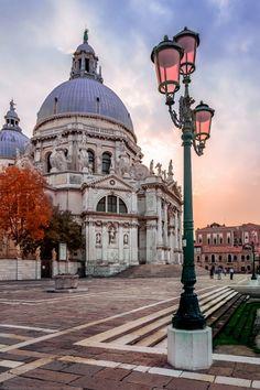 Lamp, Basilica di Santa Maria della Salute, Venice, Italy