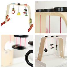 Ikea Hack baby gym made cool! Gonna do this for my niece
